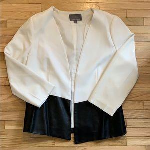 Tinley Road Vegan Leather Asymmetric Front Blazer